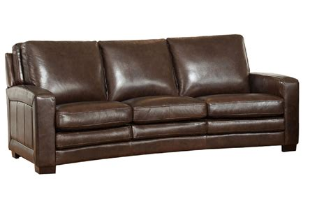 learher couch joanna full top grain dark brown leather sofa