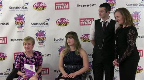 christopher russell scottish government sunday mail young scot awards backstage interviews with