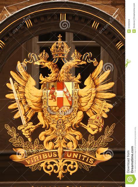 austro hungarian monarchical emblem stock images image