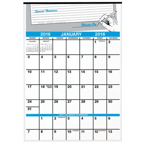 writing on calendar calendar template 2016