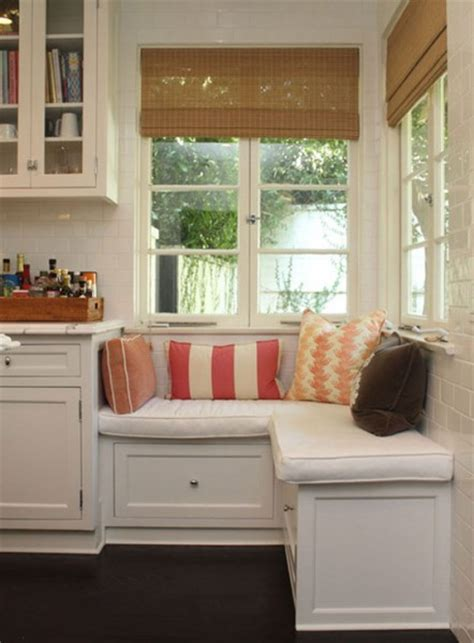 built in bench under window making use of alcoves or small spaces with design fab