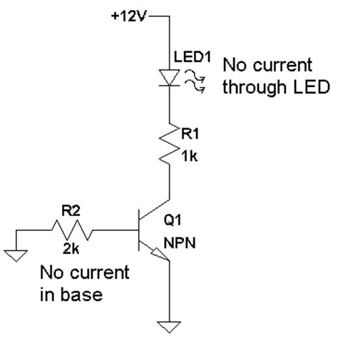 npn transistor used as a switch tutorial electronics circuits diagram transistor