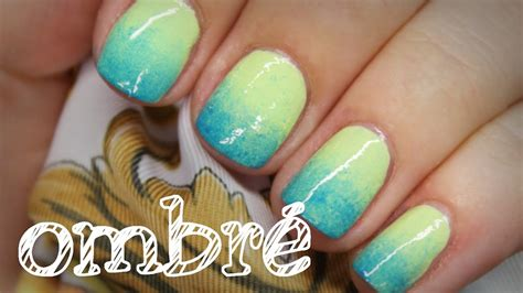 Nägel Lackieren Muster Youtube by N 228 Gel Ombre Nails Schnell Einfach N 228 Gel Mit