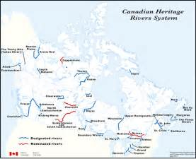 canada map of rivers canadian heritage rivers system canada s national river