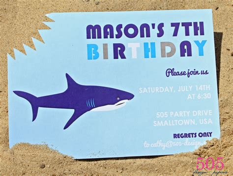 shark birthday card template free printable shark invitation orderecigsjuice info