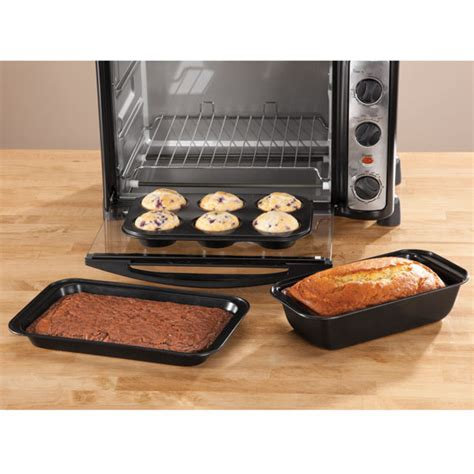 Toaster Oven Set toaster oven baking pans set of 3 by home style kitchen