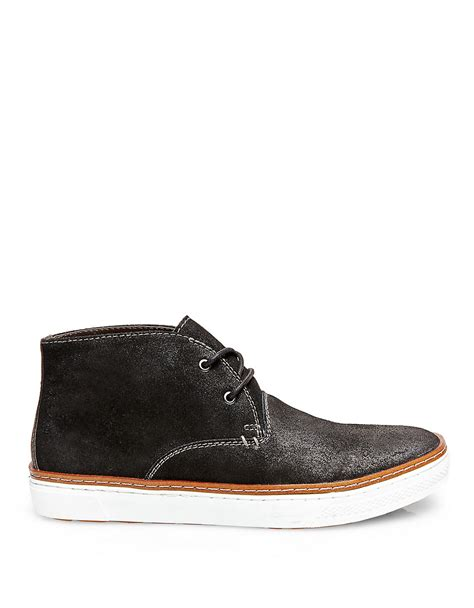 steve madden fedder suede chukka boots in black for