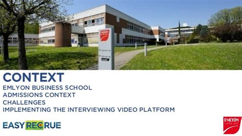 Emlyon Mba Admission by Find Out How Emlyon Uses Pre Recorded Interviews To