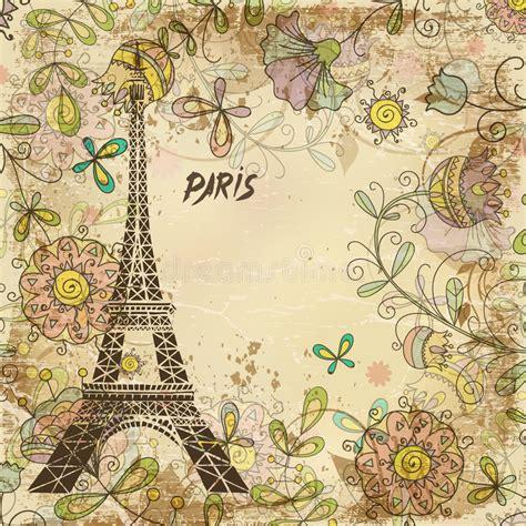 imagenes vintage de paris torre eiffel par 237 s fondo vintage ilustraci 243 n del vector