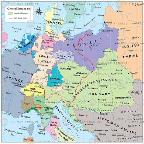 central europe map central europe 1797