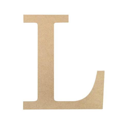 10 quot decorative wood letter l ab2036 craftoutlet