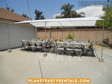 table and chair rentals san fernando valley 12ft x 20ft tent rentals