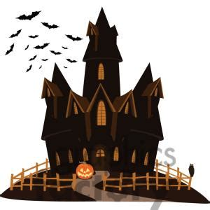cartoon haunted house haunted house clipart clipart bay
