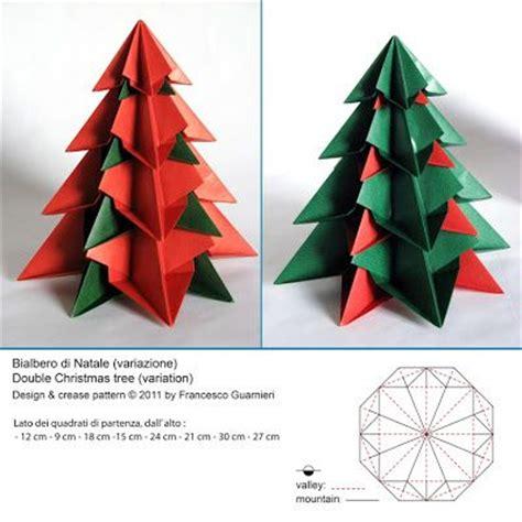 Modular Origami Tree - origami bialbero di natale variante