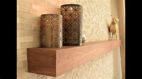 building  fireplace mantel floating shelf youtube