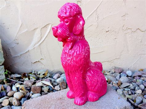 hot pink home decor hot pink dog statue by 2rendy vintage eclectic home