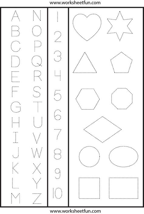 tracing shapes worksheets letters numbers shapes tracing worksheet printable worksheets preschool