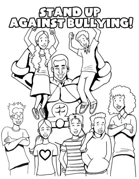 Anti Bullying Coloring Book Anti Bullying Colouring Pages
