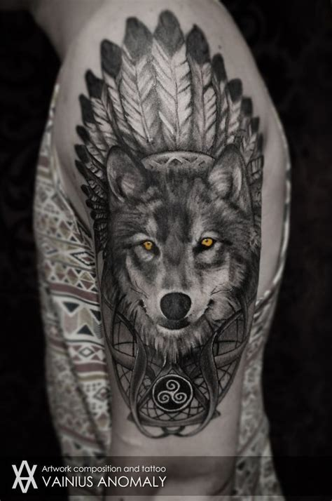 57 Wolf Tattoo Designs For Men And Women With Meaning American Indian Wolf Tattoos