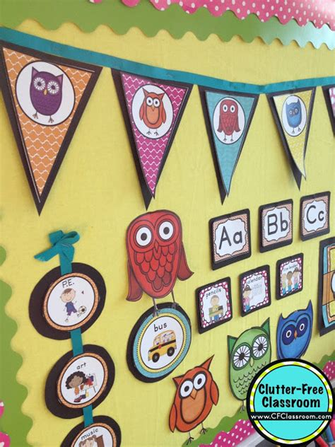 printable owl classroom decorations owls themed classroom ideas printable classroom