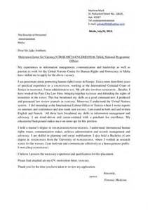Cover Letter For Applying For Master Degree by Motivational Letter For Master Degree