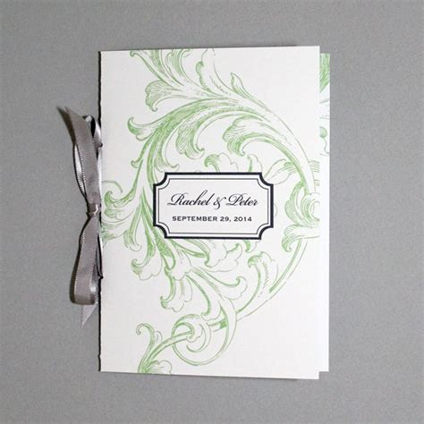 Florid Scroll 4 Page Program Template Download Print 4 Page Wedding Program Template