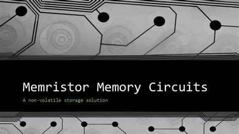 kapasitor wipro hp resistor memory 28 images the memrister and reram is coming for computers noetic sciences
