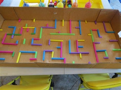 How To Make A Maze On Paper - maze straws and the box on