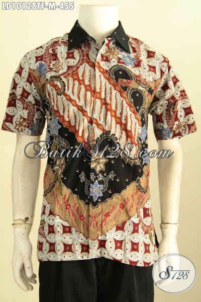Celana Pendek Motif Pria Premium model baju batik pria terkini hem lengan pendek premium