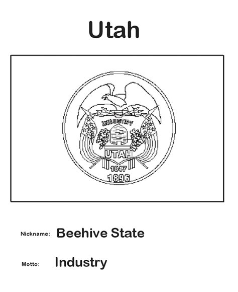 Utah State Flag Coloring Page Cub Scouts Pinterest State Flag Coloring Pages