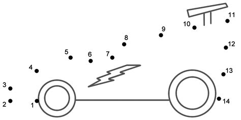 printable dot to dot cars race car connect the dots count by 1 s transportation