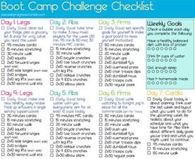 boot c challenge checklist fitness tips workout ideas