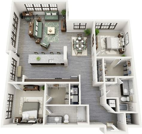 plan apartment 2 bedroom apartment house plans