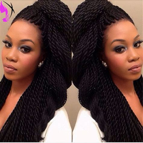 new style twist marley 1b braided synthetic lace front stock glueless twist braided synthetic lace front wigs