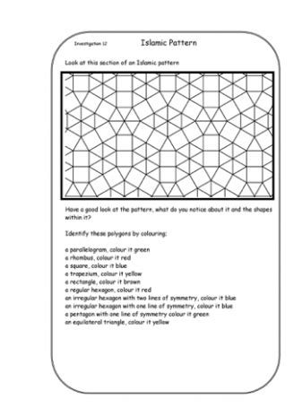 how to teach pattern in art 2d shape teaching ideas