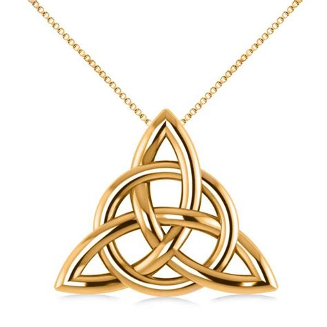 how to make celtic knot jewelry triangular celtic knot pendant necklace 14k