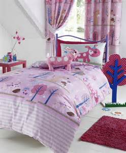 pooch double duvet cover bed set pink purple and blue