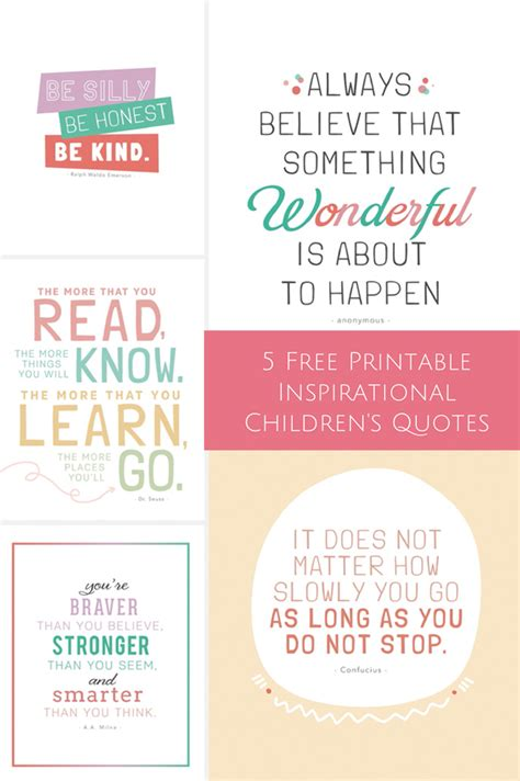printable childrens quotes 5 free printable inspirational children s quotes