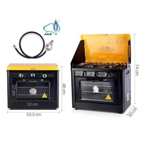Oven Gas Elpiji devanti portable cing cooking oven lpg gas 3 burner