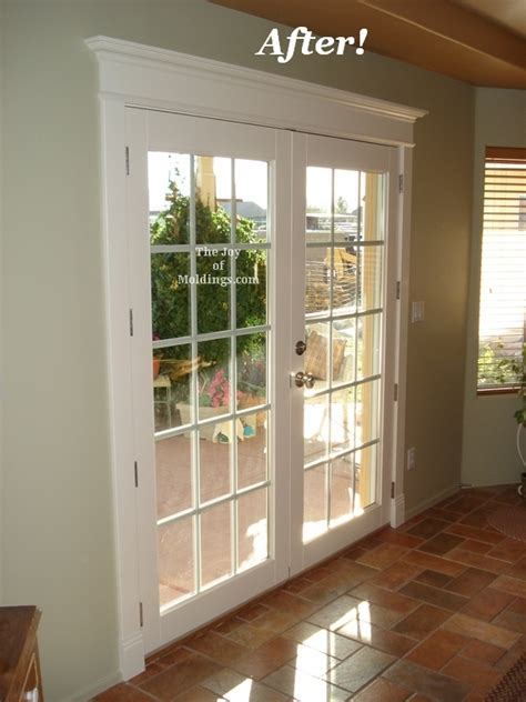 Trim Around Sliding Glass Door After Before Window Valance Box Future Home Ideas Valances Window Valances