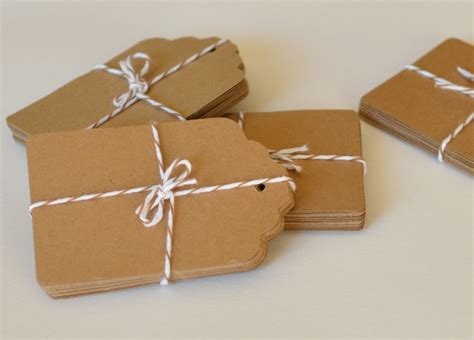 tag paper cuts large kraft paper tags 100 count die cut tag paper