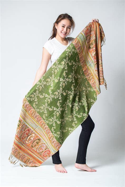 Pashmina Instan Pashmina Instan 2 2 nepal made pashmina shawl scarf green sure design