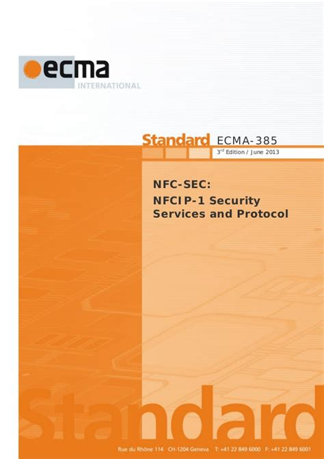 everyday nfc third edition near field communication explained books ecma 385 near field communication standard