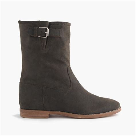 j crew langston boots in gray conifer lyst