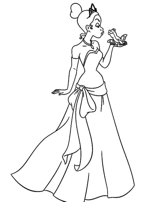 coloring pages princess tiana free name tiana coloring pages