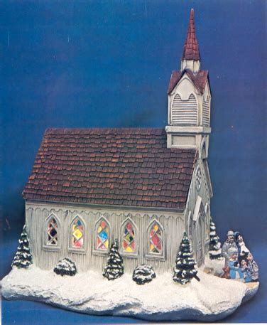 17 inch lighted church scene with colorful rice lights wbyron133a