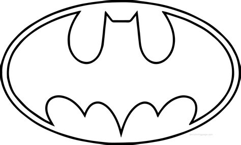 coloring pages of the batman symbol outline batman logo coloring page wecoloringpage