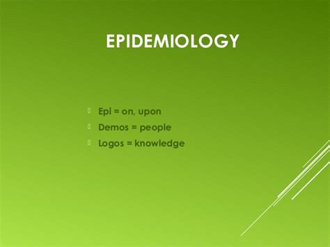 introduction to epidemiology introduction to epidemiology