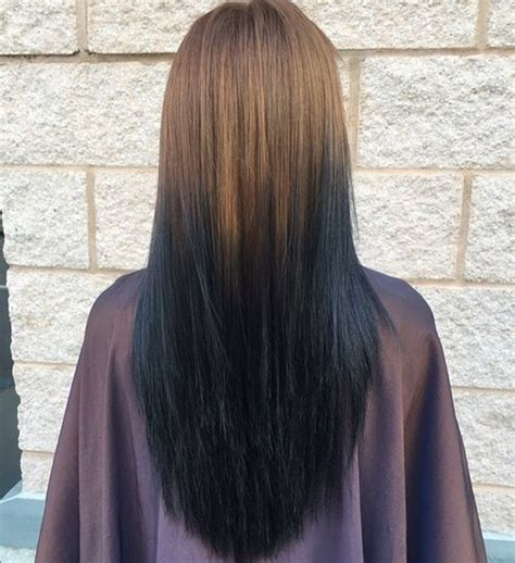 dark brown hair with light brown ombre sleek and hair beauty with ombre straight hair