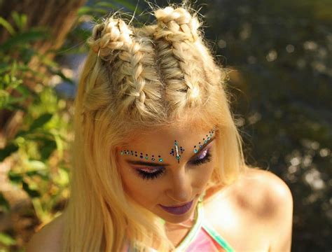 hairstyle ideas for raves braids buns pinteres